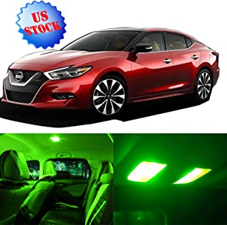 LED Interior Lights 12pcs Green Package Kit Accessories Replacement for 2007-2015 Nissan Altima Sedan