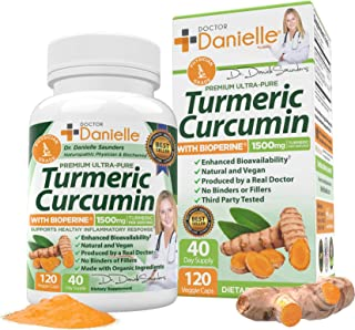 Turmeric Curcumin with BioPerine 1500mg. Highest Potency Available. Premium Organic Joint & Healthy Inflammatory Support. ...