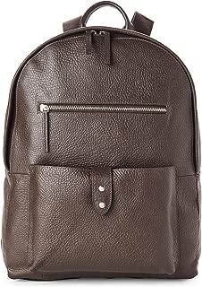 Saunders Java Brown Leather Zip Top Backpack