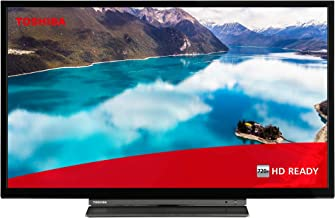 Toshiba 32WD3A63DB 32-Inch HD Ready Smart TV with Freeview Play and Build-In DVD Player - Chrome Black/Silver (2019 Model) [Energy Class A+]