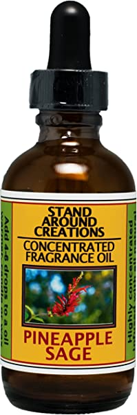Concentrated Fragrance Oil Scent Pineapple Sage A Exotic Blend Of Sweet Pineapple And Aromatic Sage Infused W Essential Oil 2 Fl Oz
