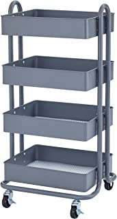Best 3 shelf metal rolling utility cart Reviews