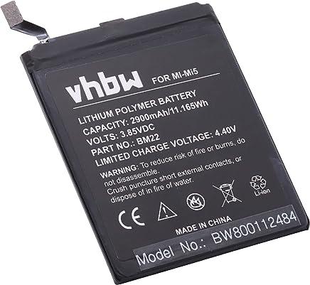 vhbw Li-Polymer Batteria 2900mAh (3.8V) per cellulari e smartphone Xiaomi Mi5 Pro Ceramic Edition, Mi5 Pro Ceramic Edition Dual SIM come BM22.