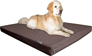 Dogbed4less Premium Memory Foam Dog Bed, Joint-Relief Orthopedic | Waterproof Liner, Washable Durable Denim Cover and Bonus 2nd External Case, 7 Sizes, Brown