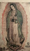 3-Pack Our Lady Mary Virgin of Guadalupe Image Tapestry - Reduced Size Replica - Nuestra Senora Maria Virgen de Guadalupe - Faux Cactus Fibre Cloth Tilma 4 x 9 in. (Not a Poster)