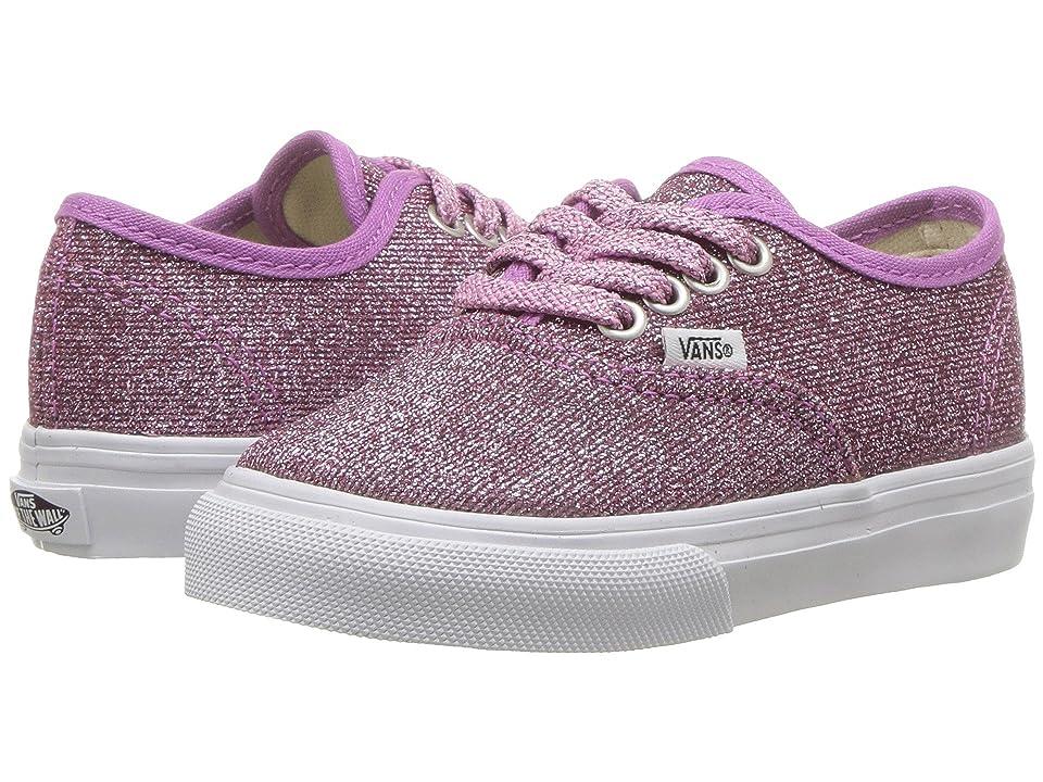 Vans Kids Authentic Glitter (Infant/Toddler) ((Lurex Glitter) Pink/True White) Girls Shoes