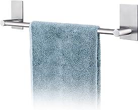 Tatkraft John handdoekstang, roestvrij stalen rail, zelfklevende houder zonder boren, handdoekenrek voor badkamer of keuke...