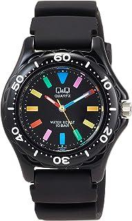 [Citizen queue and queue] CITIZEN Q & Q watch sports-type analog display 10 ATM water resistant black × multi-color VR25-0...