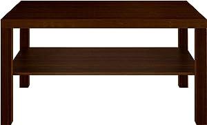 Furniture 247 - Tavolino da salotto rettangolare con piano d'appoggio in rovere nero
