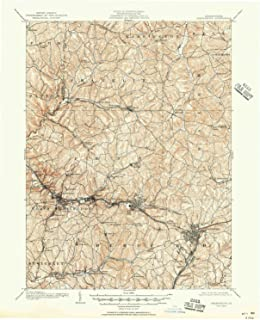YellowMaps Greensburg PA topo map, 1:62500 Scale, 15 X 15 Minute, Historical, 1906, Updated 1951, 20.9 x 17 in