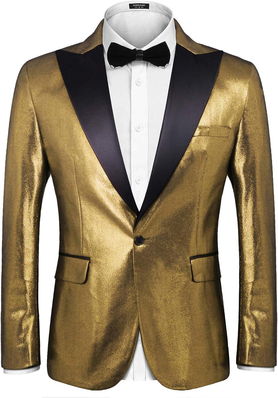 COOFANDY Men's Fashion Suit Jacket Blazer Weddings Prom Party Dinner Tuxedo