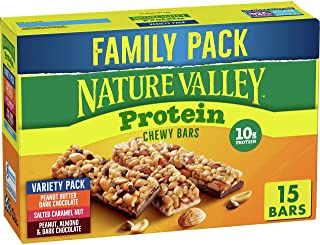 Nature Valley Chewy Granola Bars, Protein Variety Pack, Gluten Free, 21.3 oz