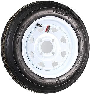 Trailer Tire On Rim 4.80-12 480-12 4.80 X 12 12 in. LRB 4 Lug White Wheel Spoke