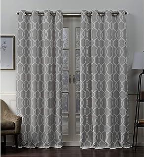 Exclusive Home Curtains Trilogi Panel Pair, 52x96, Ash Grey