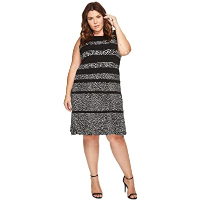 MICHAEL Michael Kors Plus Size Cheetah Paneled Sleeveless Dress (Black) Women