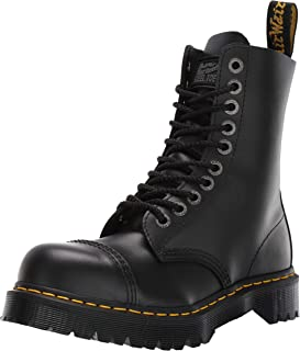 8761 BxB 10-Eye Fashion Steel Toe Leather Boot for Men and Women