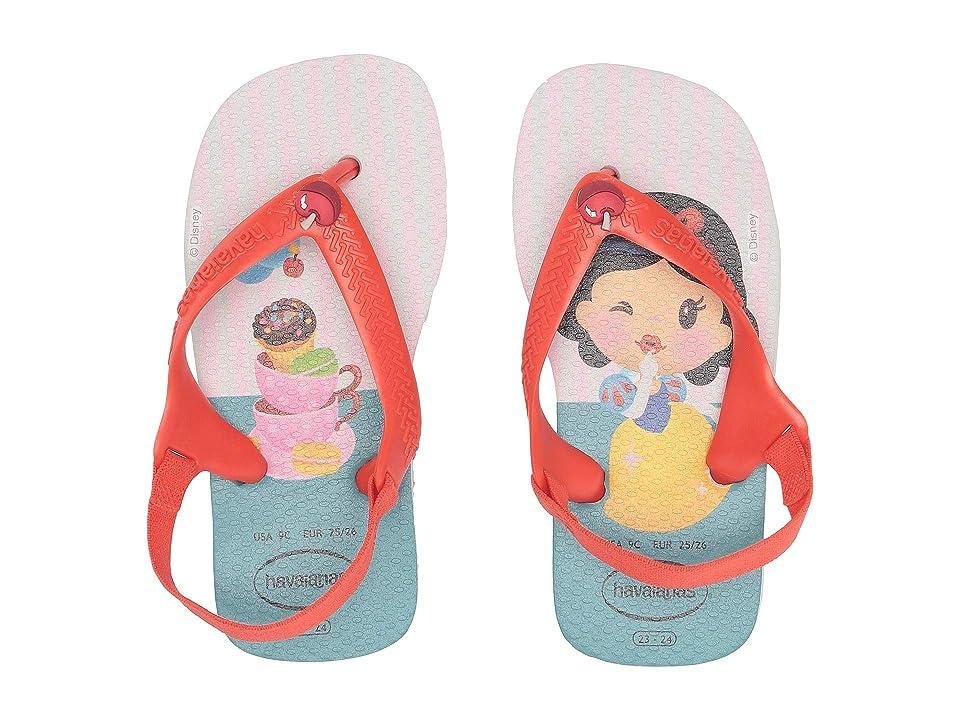 Havaianas Kids Baby Disney Princess Flip-Flop (Toddler) (White/Strawberry) Girls Shoes