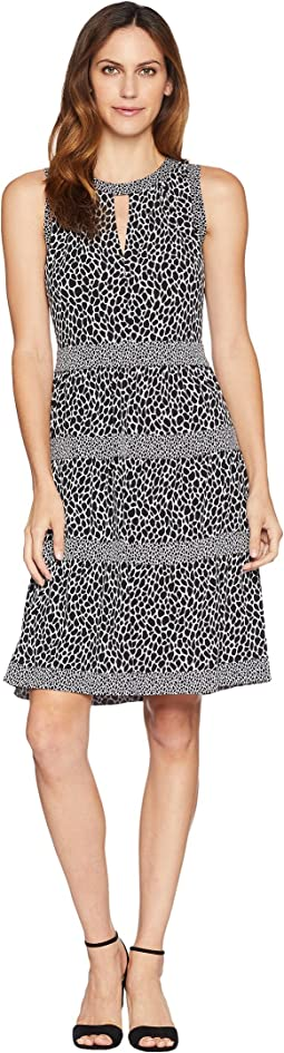 Leopard Border Tier Dress