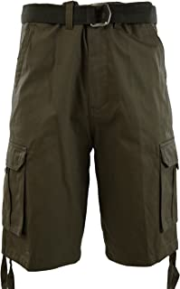 ChoiceApparel Mens Cargo Shorts with Belt