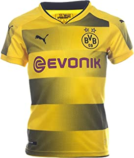 PUMA Kids' Borussia Dortmund 2017/18 Home Soccer Jersey (Sz. X-Large) Yellow