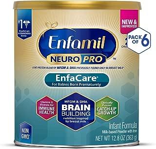 Enfamil NeuroPro EnfaCare Premature Newborn Baby Formula Milk Powder, 12.8 Ounce (Pack of 6) - MFGM, Omega 3 DHA, Probiotics, Iron, Immune Support