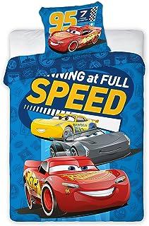 Disney Juego de cama infantil III 2piezas 100% algodón 40x 60+ 100x 135cm con cremallera Cars Speed Talla:tamaño: 100 x 135 cm + 40 x 60 cm