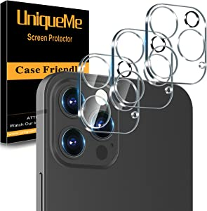 [ 3 Pack] UniqueMe Camera Lens Protector Compatible with iPhone 12 Pro 6.1