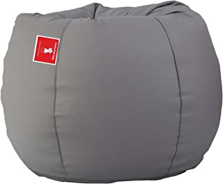 ComfyBean Bags XXL Bean Bag Without Fillers Cover (Light Grey)