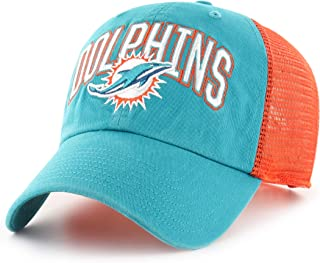 OTS NFL Miami Dolphins Men's Decry Challenger Adjustable Hat, Team Color, One Size