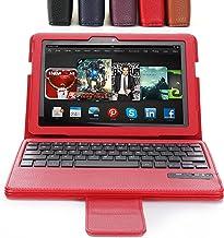 Poetic Keybook con Tapa y Teclado Bluetooth con función automática Smart Cover función de hibernación y Encendido para Amazon Kindle Fire HDX 7 2nd generación 2013 22,61 cm Tablet - de Color Rojo