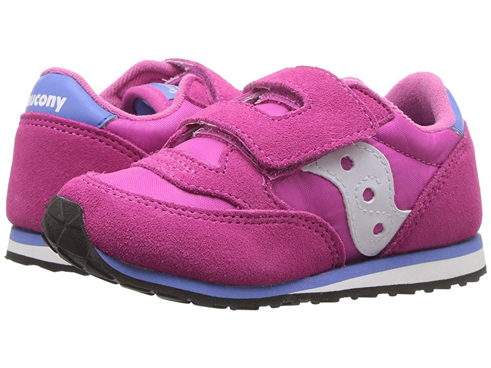 Saucony Kids Originals Jazz Hook Loop (Toddler/Little Kid) (Magenta) Girls Shoes