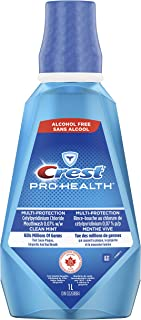 Crest Pro-Health Multi-Protection Alcohol Free Mouthwash, Clean Mint, 1 L