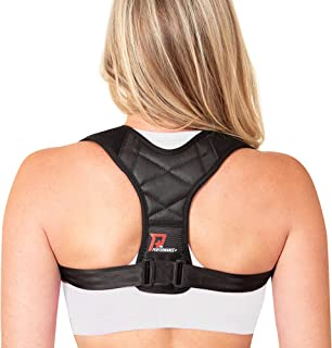 PRO PERFORMANCE+ Posture Corrector   Clavicle Support For Upper Back Neck & Shoulders   Corrects Bad Posture   Fully Adjus...