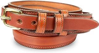 "Men's English Bridle Leather Ranger Belt - 1 1/4"" Taper to 3/4"""