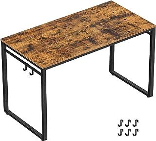 میز کامپیوتر VASAGLE ALINRU ، میز اداری با 8 قلاب ، برای مطالعه ، دفتر خانه ، مونتاژ آسان ، قاب فولادی ، صنعتی ، 39.4 19. 19.7 29 29.5 اینچ ، قهوه ای و مشکی ULWD045B01