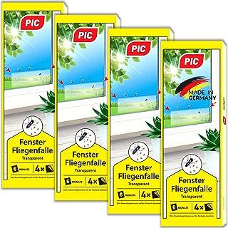 PIC – Fenster-Fliegenfalle – 4×4=16 Stück – Giftfreie, Geruchlose Leimfalle..
