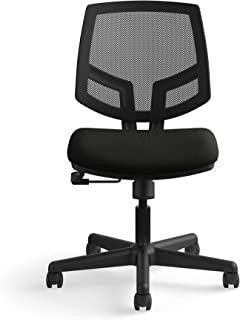The HON Company SB11.T HON Volt Task Mesh Back/Leather Seat Computer Chair for Office Desk (H5711), Black