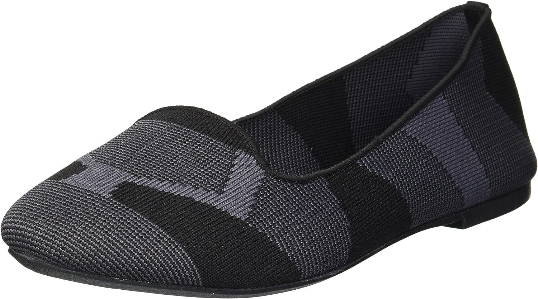 Skechers Womens Cleo - Sherlock - Engineered Knit Loafer Skimmer Ballet Flat