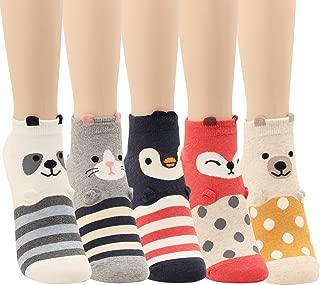 Women Girls Sweet Animal Zoo Cute Funny Novelty Crew Dog Cat Owl Penguin Socks