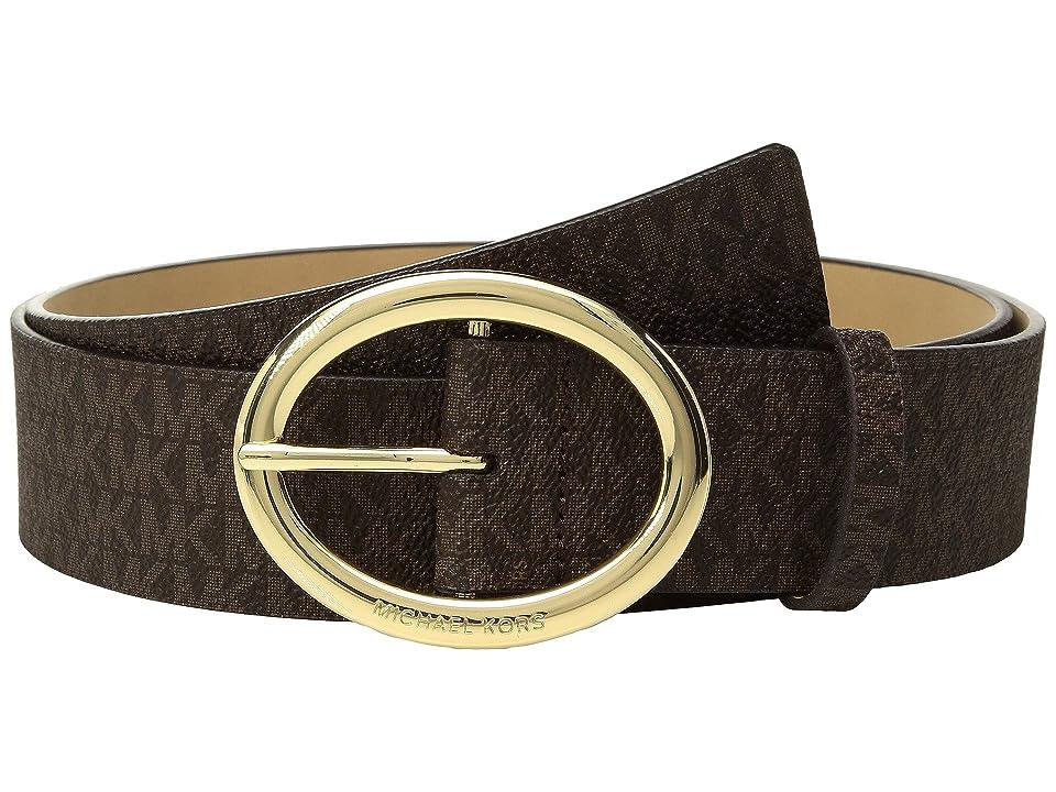 MICHAEL Michael Kors 38mm Logo Belt (Chocolate) Women