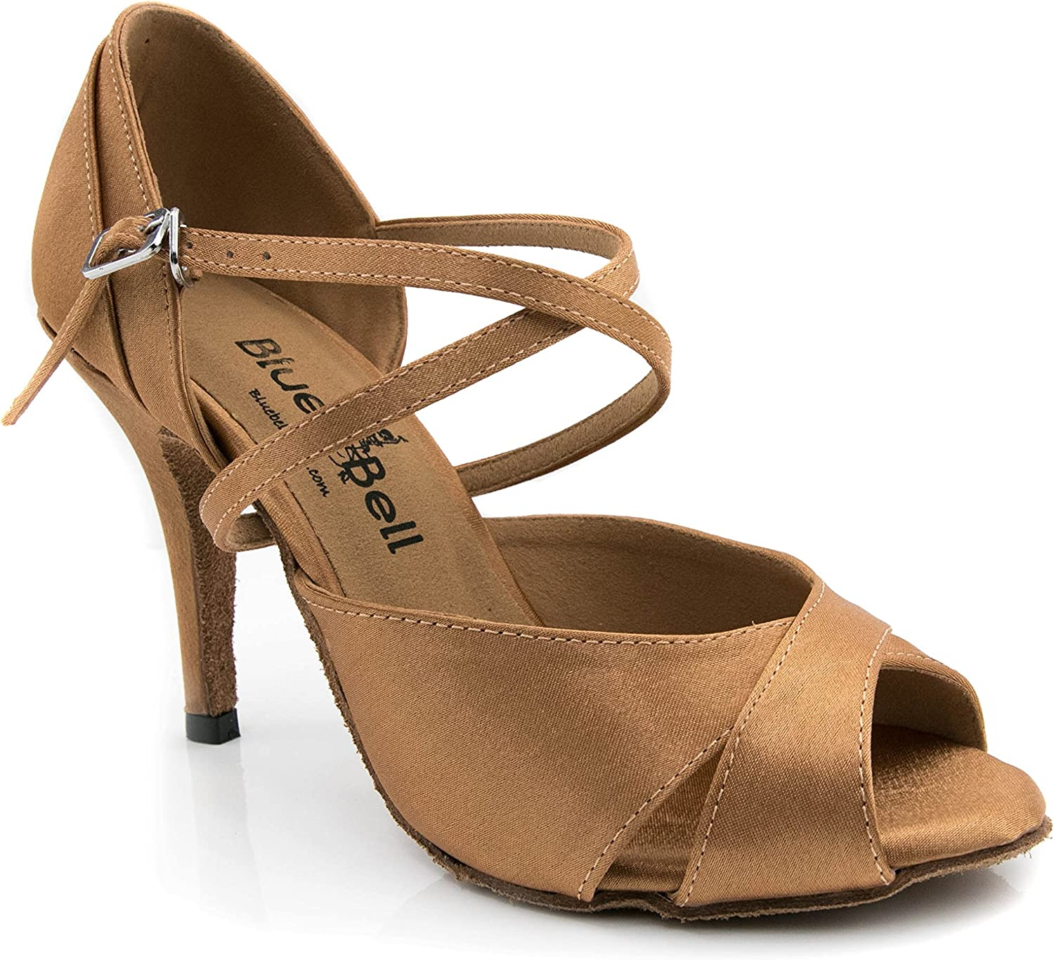 BlueBell Shoes Handmade Women's Ballroom Salsa Wedding Competition Dance Shoes Style: Petra 3.5