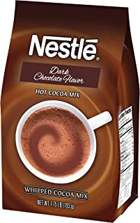 Nestle Hot Chocolate Mix, Hot Cocoa, Dark Chocolate Flavor, Whipped Cocoa, 1.75 lb. Bag