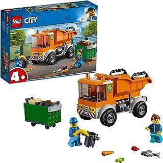 LEGO 60220 Avfallshantering, Lastbilsleksak med 2 Minifigurer och Tillbehör för Sopuppsamlare, Färgglad