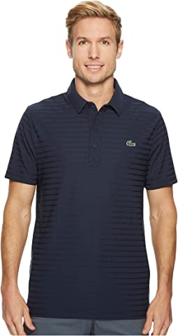 Short Sleeve Golf Ultra Dry Tech Jersey Solid Jacquard Polo