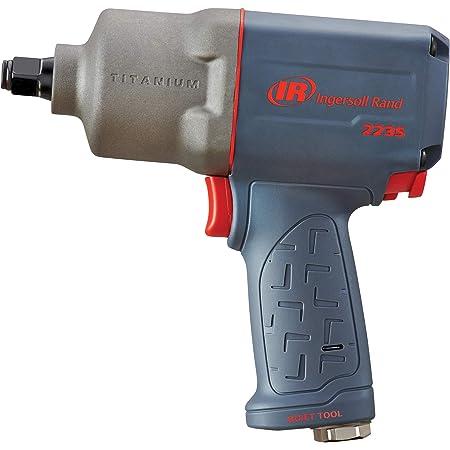 "Ingersoll Rand 2235QTiMAX 1/2"" Drive Air Impact Wrench – Quiet Technology, 1,300 ft-lbs Powerful Torque Output, Lightweight, Titanium Hammer Case, Gray"