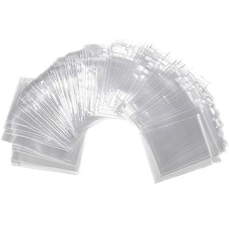 CCINEE チャック付ポリ袋 6*8cm 100pc ジッパー袋 小分け袋 プラスチック袋 透明 厚手ジップロック袋 クリアジッパーバッグ