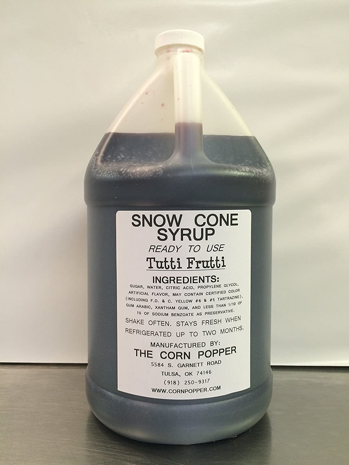 Snow Cone Shaved Ice Syrup Super beauty product restock quality top! made Super popular specialty store Popper Fru Corn by The Tutti