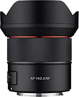 Samyang AF 14mm F2.8 Wide Angle Auto Focus Full Frame Weather Sealed Lens for Canon RF Mount, Black (SYIO14AF-RF)