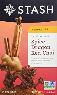 Stash Tea Spice Dragon Red Chai Herbal Tea, 18 Count (Pack of 6)
