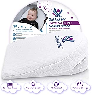 Bassinet Wedge Pillow for Baby – Universal – 3 Elevation Options for Better..